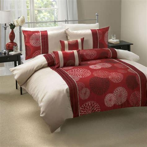calidad adornado rojo vino beige funda de edredon juego lino  cama edredon ebay comprar