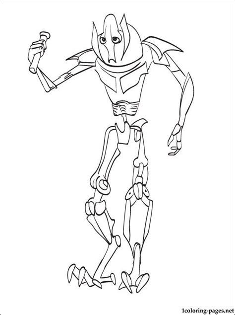 star wars general grievous printable page coloring pages