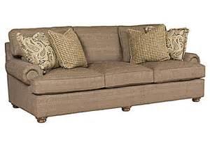 king hickory henson fabric sofa with panel arm