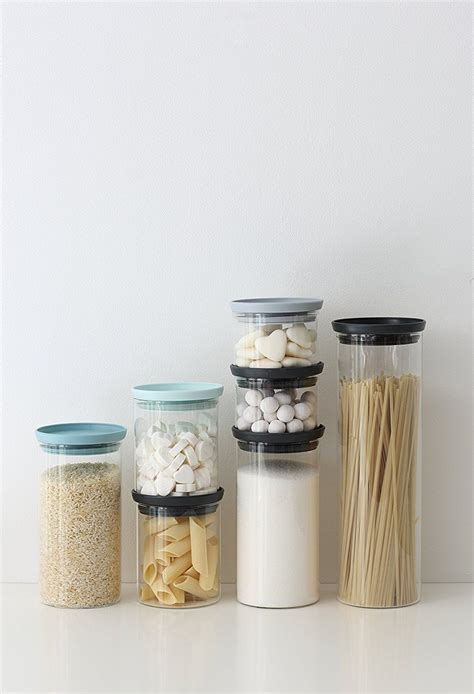 Set Of 3 Food Container brabantia stackable glass food storage