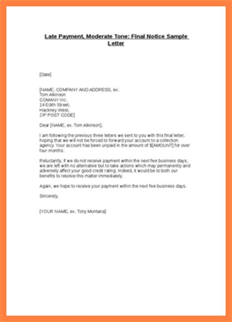 Letter For Rent Delay 8 sle late payment notice notice letter