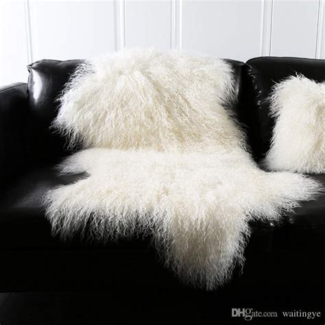 natural white mongolian sheep skin ground matcm