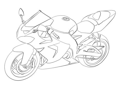 kawasaki ninja coloring pages free ninja motorcycle coloring pages