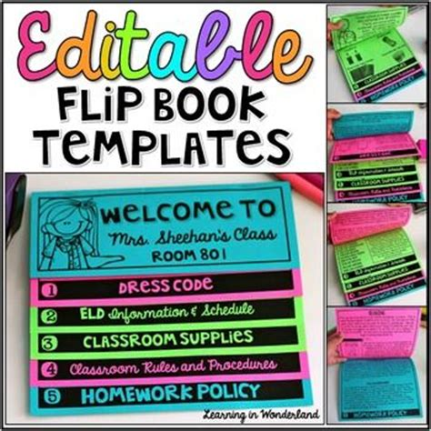 Editable Double Sided Flip Book Template Bundle No Cut Flipbook Texts I Am And To Share Free Editable Flip Book Template