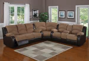 black sectional sofa with recliners thesofa