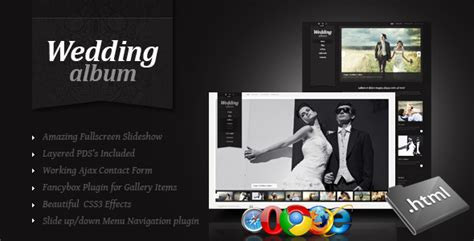 Amazing Wedding Album Layout by Wedding Album Premium Xhtml Css Template By Thememakers