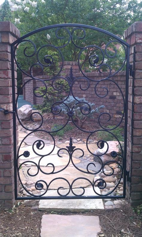 Wrought Iron Garden Gates by Custom Wrought Iron Garden Gate By The Looking Glass