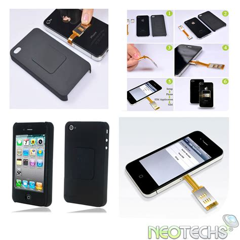 iphone k nh n sim dual sim card adapter back for apple iphone 4 4g ebay