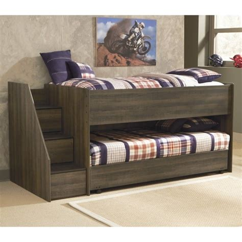 ashley furniture loft bed ashley furniture juararo loft bed with caster bed in dark