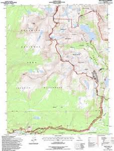 tioga pass topographic map ca usgs topo 37119h3