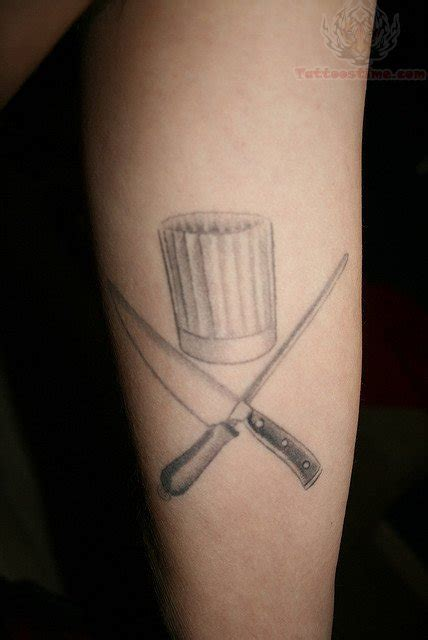 chef hat tattoo chef knife tattoos
