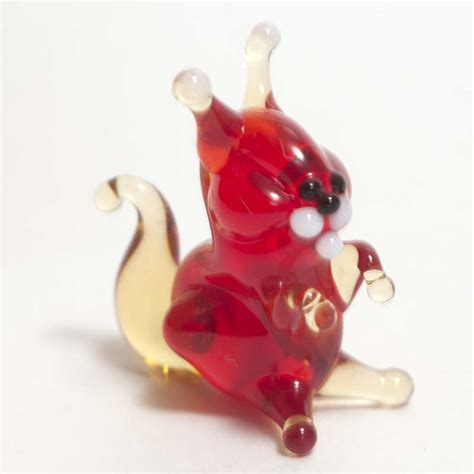 small animal figurines for crafts mini glass squirrel small glass lions figurines