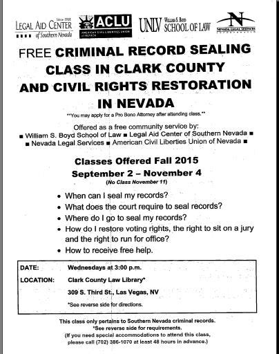 See Your Criminal Record Nevada Cure Free Criminal Record Sealing Class Restore Your Right To Vote