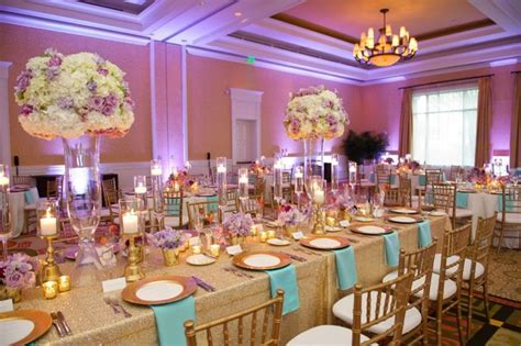 Chic Gold, Aqua, and Lavender Wedding   ** All Things