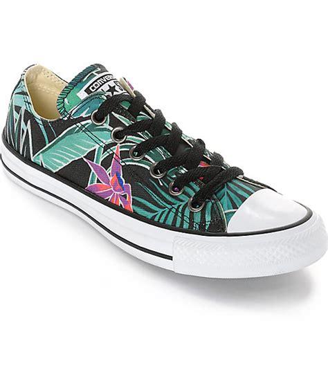 Converse All Ox Flower Motif converse chuck all ox black floral print shoes