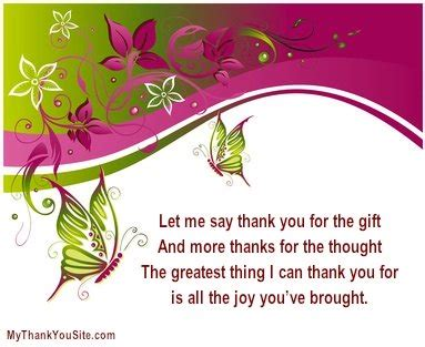 Generous Gift Thank You Card - sle thank you verses and thank you poems