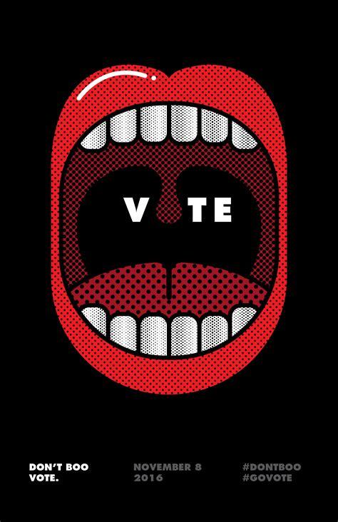 vote minimalist poster  venngage inspiration gallery