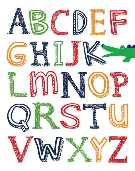 Shower Curtain Kids Alligator Abc Poster Digital Art By Jaime Friedman
