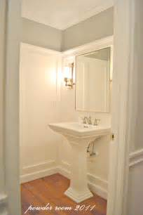 Remodelaholic powder room transformed with molding on walls