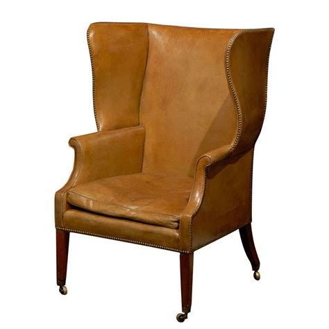 large folding cing chairs large leather wing chair at 1stdibs