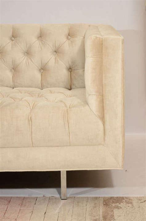 modern tufted sofa velvet modern tufted velvet tuxedo sofa for sale at 1stdibs