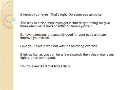 How To Improve Vision Fast