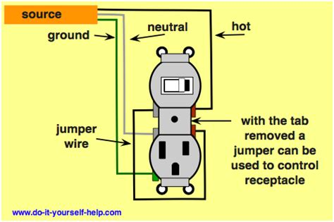 3 best images of switch outlet combo wiring diagram
