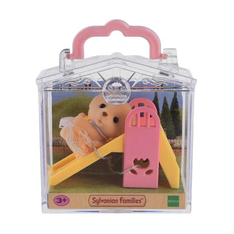 Mainan Anak Carry A Home 15885a jual sylvanian families baby carry on slide