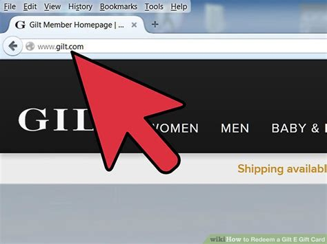 Gilt Gift Card - how to redeem a gilt e gift card 10 steps with pictures
