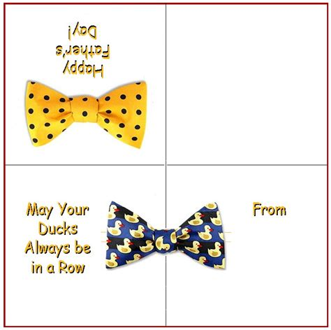 Bow Tie Card Template by Bow Tie Card Free Crafts