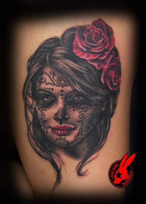 girl sugar skull tattoo pin up sugar skull www imgkid the image kid