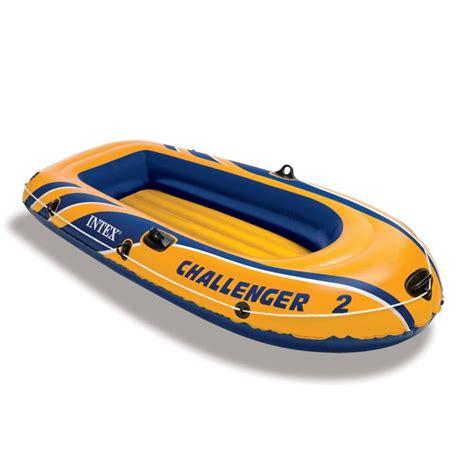 opblaasboot 2 personen bateau gonflable intex challenger 2 places rames gonfleur
