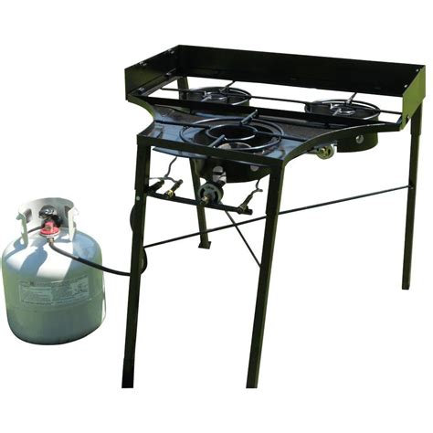 Pl Cp Three Black king kooker 12 in portable outdoor propane gas