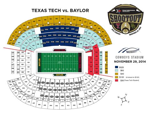 texas tech stadium map issuu texas tech vs baylor seating chart by texas tech athletics