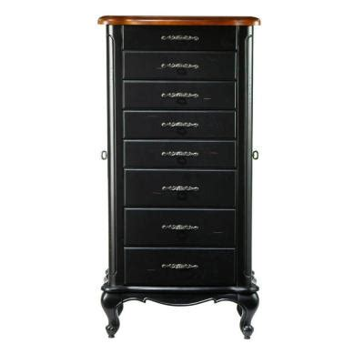 home decorators jewelry armoire home decorators collection 20 in w provence black with