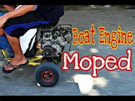 boat engine in philippines boat engine moped philippine version youtube