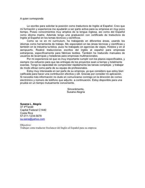 Modelo De Carta De Presentacion Para Un Curriculum Vitae Modelo 01 De Carta De Presentaci 243 N Curr 237 Culum Entrevista Trabajo