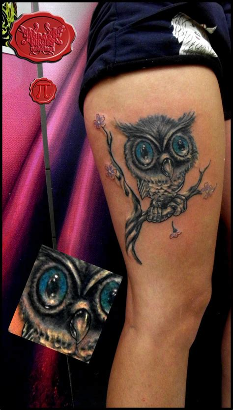 new school girly tattoo girly new school owl tattoo