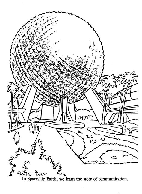 epcot coloring book disney coloring pages walt disney
