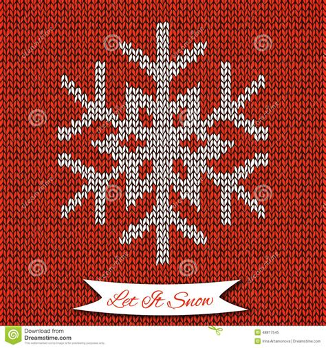 snowflake pattern knitting seamless pattern with knitted snowflake stock vector