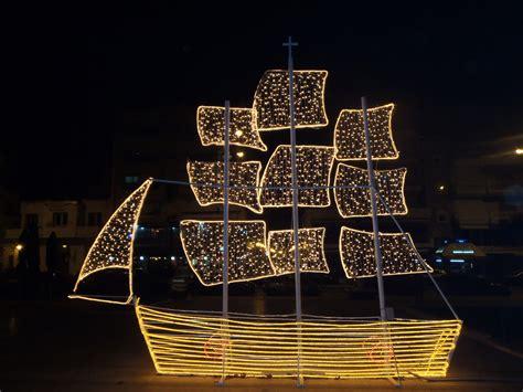 boat lights christmas karavakia christmas boats in greece