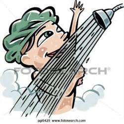 taking a shower clipart