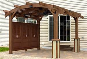 Pergola With Walls by Pergolas 171 Outdoor Living Of New Jersey