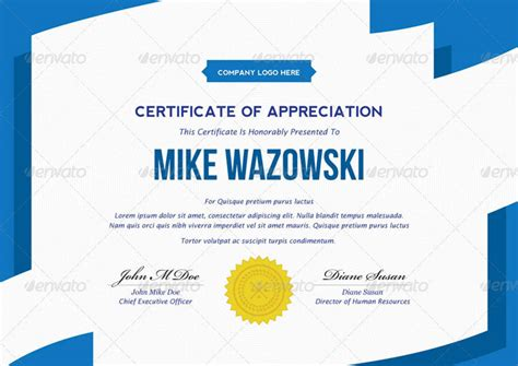 20 best printable certificate template