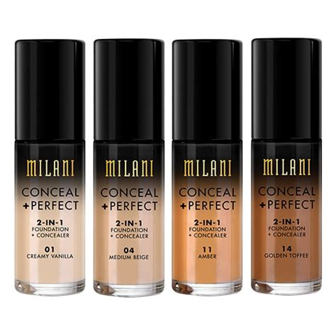 Milani Concealperfect 2 In 1 Foundation milani conceal and 2 in 1 foundation and concealer