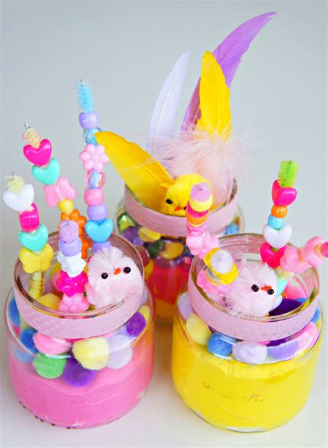 Easter Handmade Crafts - getting ready for easter flowers by tots