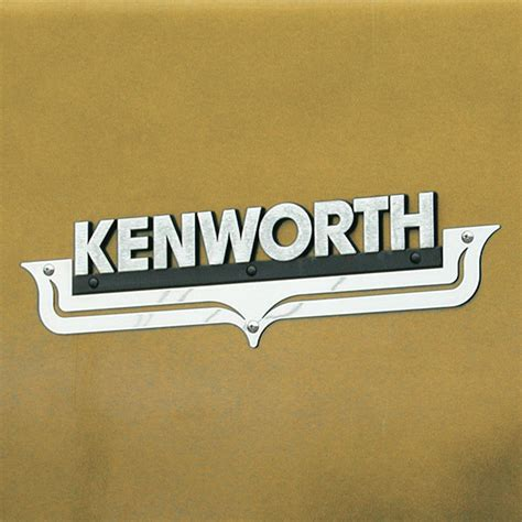 kenworth logo kw hood emblem accent 2 cutout accent air intake