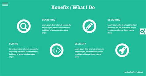 section v talks konefix free html5 template creative beacon