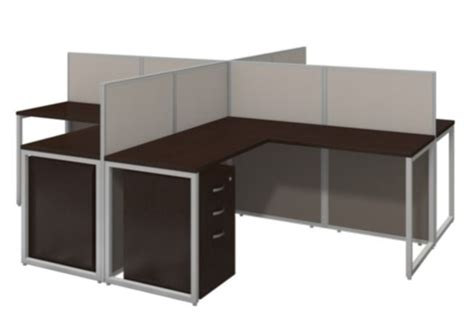 4 person workstation desk the office leader contemporary cluster of 4 person l