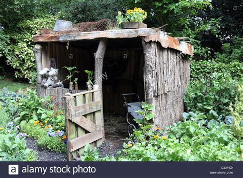 garden shed in a child s garden in wales artisan garden
